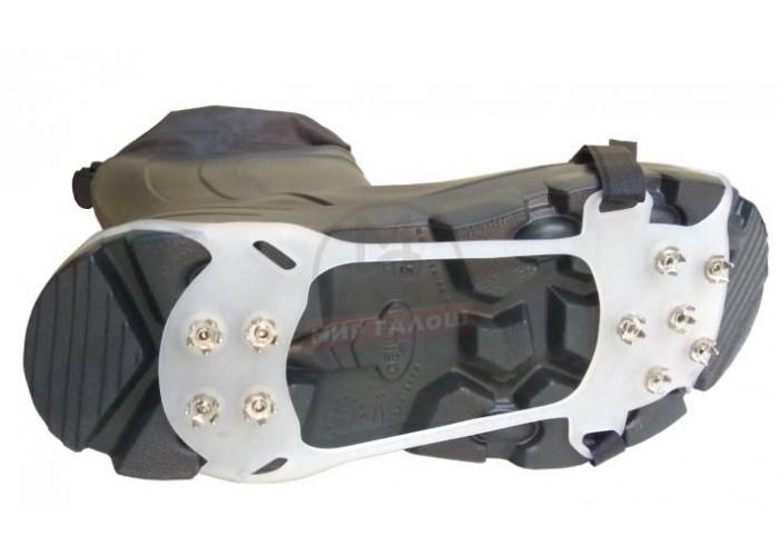 Антигололед «Скалолаз-Хард» Шипы звезды Прозрачный с липучкой