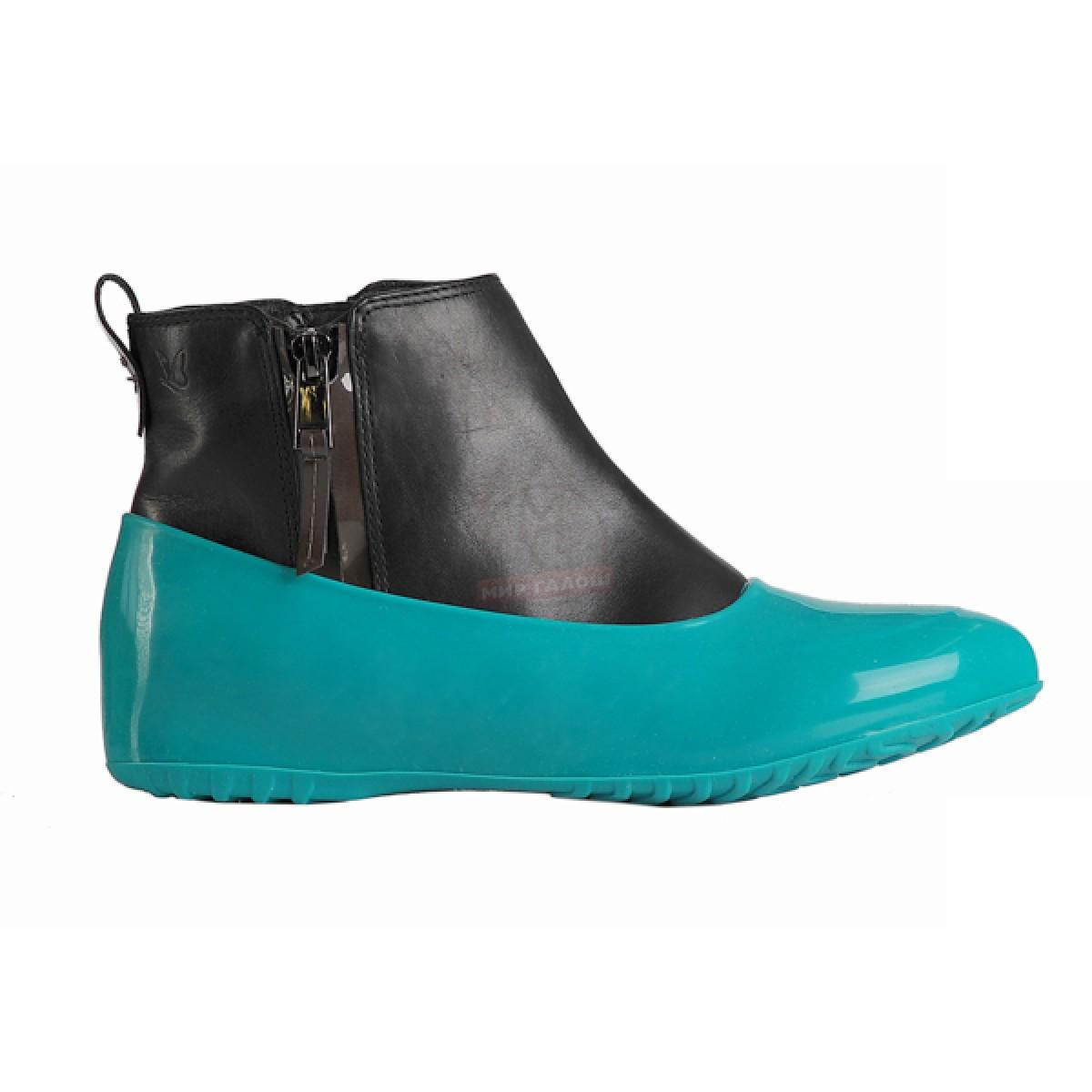 Женские галоши для обуви без каблука, зеленая мята