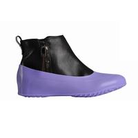 Галоши для обуви без каблука, лиловые