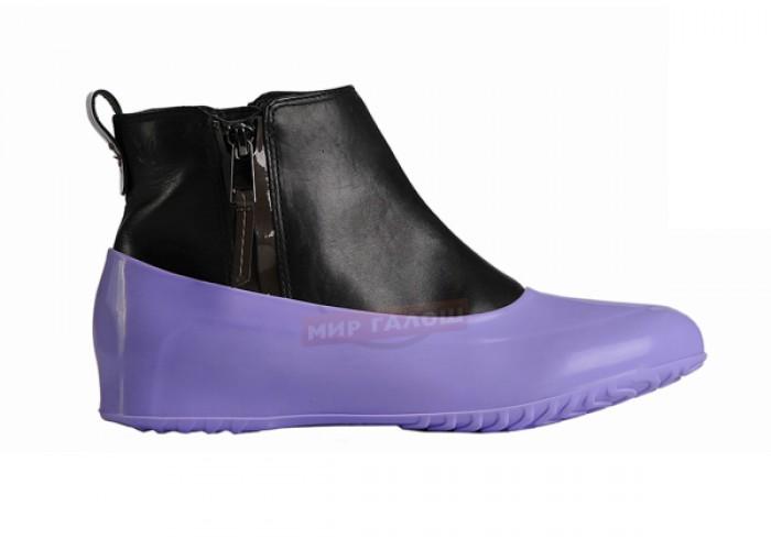 Женские галоши для обуви без каблука, лиловые