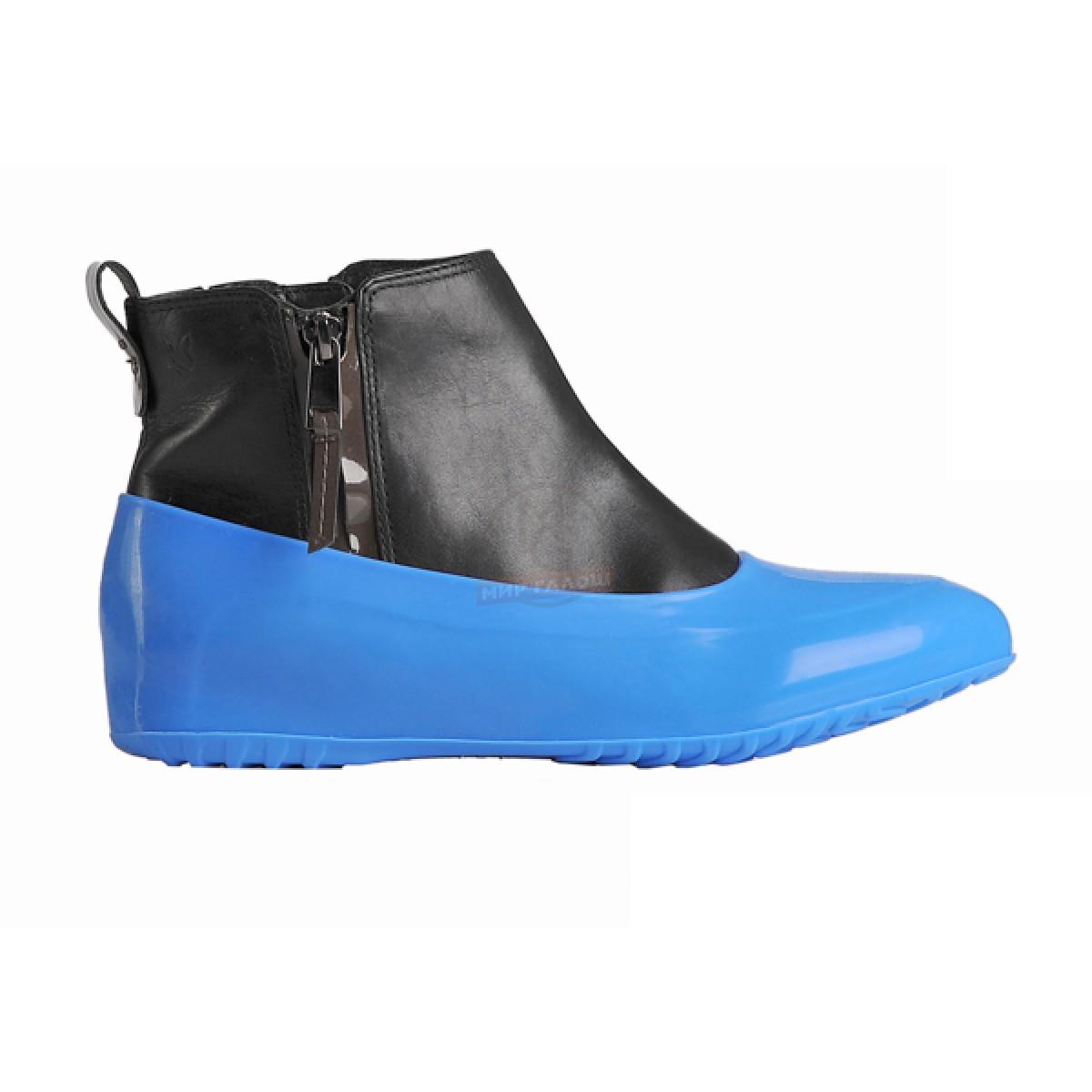 Женские галоши для обуви без каблука, голубой рассвет