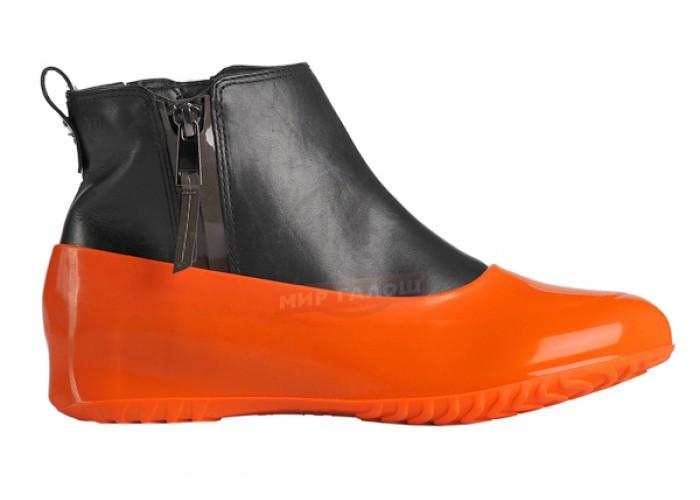 Женские галоши для обуви без каблука, апельсин