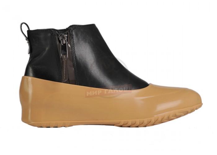 Женские галоши для обуви без каблука, бежевые