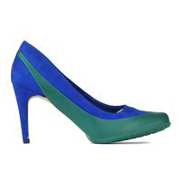 Женские галоши открытого типа под каблук, зеленые