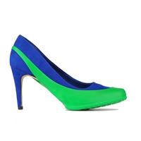 Женские галоши открытого типа под каблук, зеленая мята