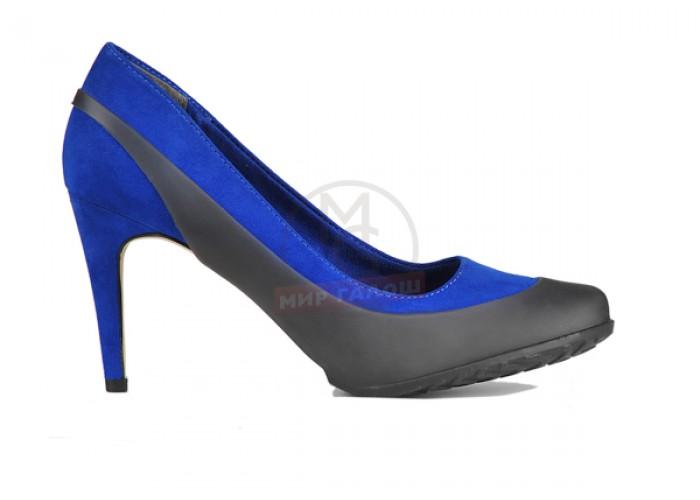 Женские галоши открытого типа под каблук, черные